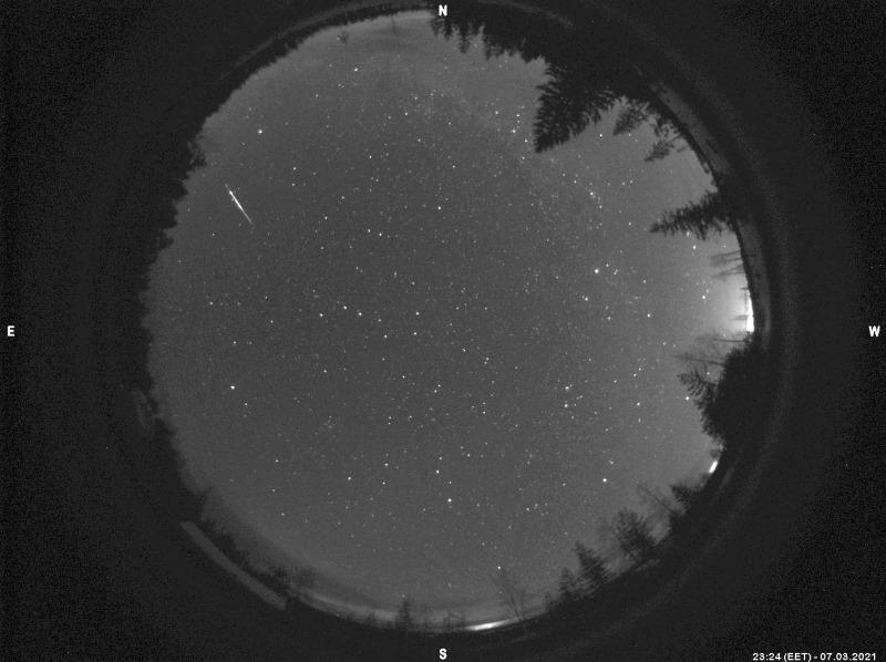 Fireball 7.3.2021. Photo: Taurus Hill Observatory.